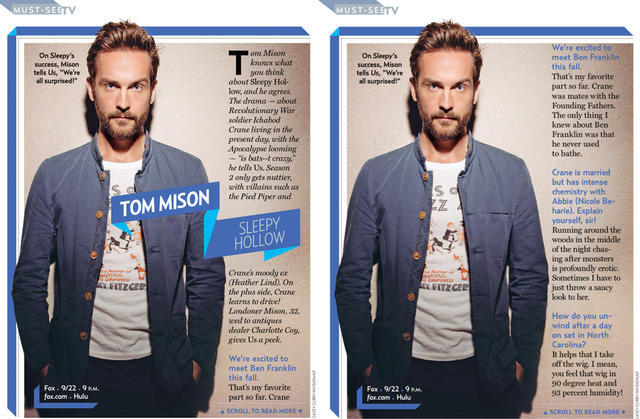 Interview: Us Weekly - 9/22/14 Issue